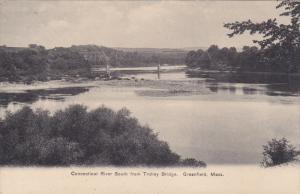 GREENFIELD, Massachusetts, 1900-1910's; Connecticut River South From Trolley ...
