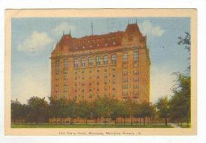 Exterior of Fort Garry Hotel,Winnipeg,Manitoba,Canada 1946 PU
