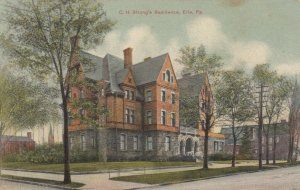 ERIE , Pennsylvania , 1900-10s ; C. H. Strong's Residence