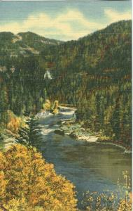 USA, Snake River Canyon on Highway 89 to Jackson Hole, Wyoming, unused linen
