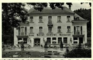 luxemburg, MÜLLERTHAL, Grand Hotel Central (1940s) Postcard