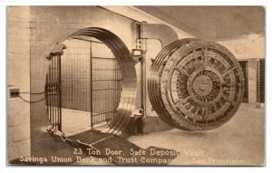 Vault Door, Savings Union Bank & Trust Company, San Francisco, CA Postcard *4W