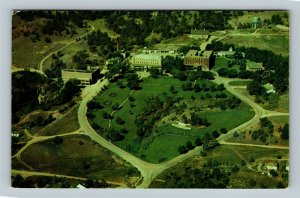 Hot Springs SD, Aerial Home State Soldiers Home, Chrome South Dakota Postcard