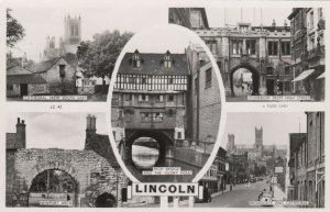 RP: LINCOLN , England , 1930s-40s ; 5 View Postcard ; TUCK