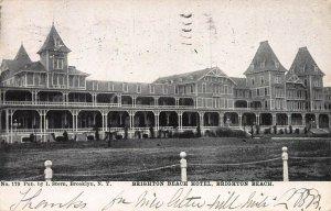 Brighton Beach Hotel, Brighton Beach, Brooklyn, New York, Postcard, Used in 1906