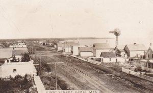 RP: GIMLI , Manitoba , Canada , 00-10s; First Street (dirt)