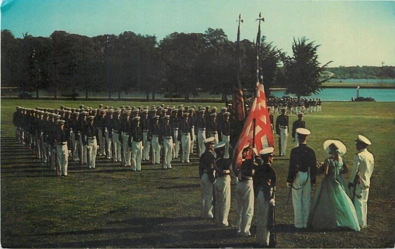 Annapolis Maryland~US Naval Academy Color Girl~Color Parade~1960s Postcard