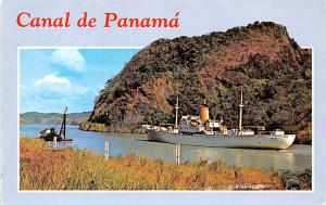 Panama Old Vintage Antique Post Card Gaillard Cut Postal Used Unknown