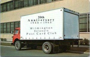 1968 Wilmington Delaware Post Card Club 20th Anniversary Postcard DO