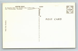 Chattanooga TN, Shelter Rock, Rock City Gardens, Chrome Tennessee Postcard