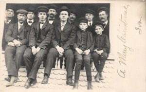 G22/ Elyria Ohio RPPC Postcard Hasenflue Well Dressed Men Boys