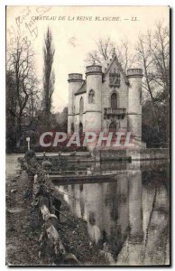 Old Postcard Chateau de la Reine Blanche Fishing Fisherman