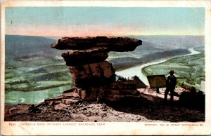 Umbrella Rock on Point Lookout Mountain Postcard used 1906 from Knoxville