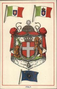 ITALY Heraldic Crest EFA E.F.A. Series Coat Arms c1910 Postcard EXC COND