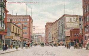 Rhode Island Providence Trolley On Weybosset Street