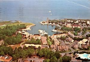 South Carolina Hilton Head Island Harbour Town Aerial View 1977