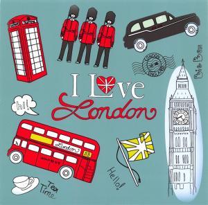 London Postcard, I Love London, Landmarks, Travel, City, Landscape 40A
