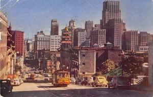 USA San Francisco Cable Car Street Vintage Cars Auto Voitures 1953