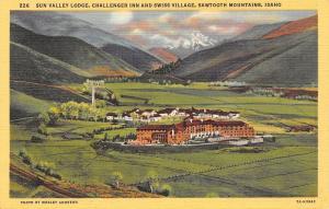 Sun Valley Idaho~Challenger Inn And Swiss Village Sawtooth Mountains Idaho~1940