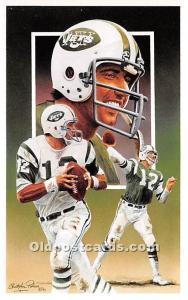 Old Vintage Football Postcard Post Card Hall of Fame Quarterback Joe Namath N...
