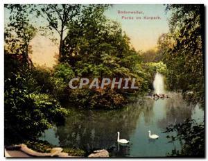 Old Postcard Badenweiler Party im Kurpark