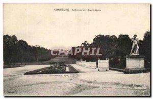 Old Postcard Compiegne L & # 39Avenue Des Beaux Monts