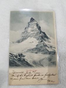Antique Postcard entitled Das Matterhorn, Dated 1900