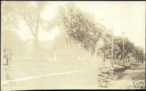 Hull, Iowa, Residence Scene (1910) RPPC