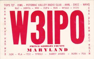 W 3 I P O Potomac Valley Radio Club Prince Georges County Maryland