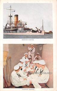 Military Battleship Postcard, Old Vintage Antique Military Ship Post Card Mon...
