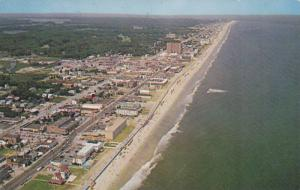 Aerial View, Many Hotels and Motels Along Beach Front, Virginia Beach, Virgin...
