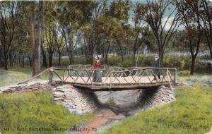 KANSAS CITY KS ROCK HILL PARK~RUSTIC BRIDGE~ELITE PCD COMPANY #169 POSTCARD 1909