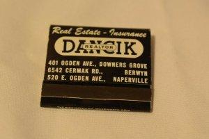 Dancik Realtor Real Estate Insurance Illinois 30 Strike Matchbook