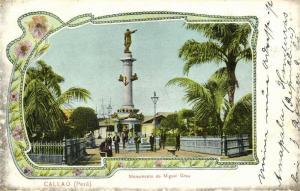 peru, CALLAO, Monumento de Miguel Grau (1913) Stamp