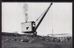 Locomotive Crane Working on NYS Erie Canal in 1909 BIN