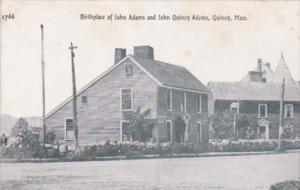 Massachusetts Quincy Birthplace Of John and John Quincy Adams