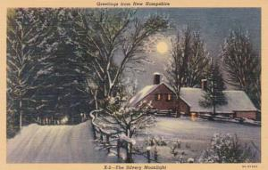 New Hampshire Greetings Showing Winter Scene Curteich