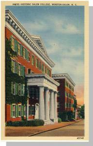 Winston-Salem, NC Postcard,Historic Salem College,Near Mint!