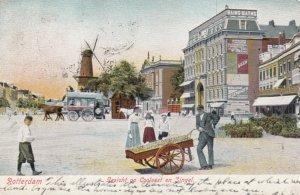 ROTTERDAM , Netherlands , 1904 ; Gezicht op Coolvest en Singel