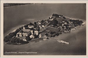FRAUENINSEL  - AERIAL VIEW of the beautiful island, 1940s / CHIEMSEE