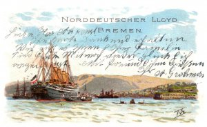 Noerreutscher LLoyd Bremen docked at Cherqurg