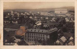 Domazlice Czech Republic Birds Eye View Real Photo Antique Postcard J74535