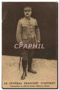 Old Postcard The Army General Franchet d & # 39Esperey Commander in chief of ...