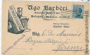 02270  CARTOLINA d'Epoca:  BOLOGNA Citta' - PUBBLICITARIA 1921