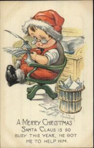 Charles Twelvetrees Christmas - Little Boy as Santa Claus c1915 Postcard