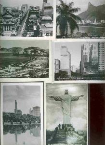 pc4660 postcard Rio De Janeiro SIX not postcard backs photographs MOBSC