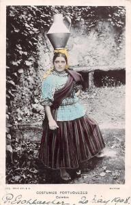 Portugal, Costumes Portuguezes, Coimbra, Water Bucket, Folk Dress, Woman