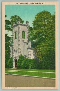 Camden South Carolina~Methodist Church~Bell Tower~c1930 Linen Postcard