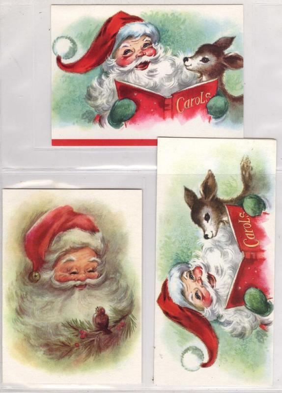 3 - Old Santa Cards