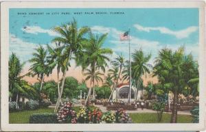 WEST PALM BEACH - BAND CONCERT in CITY PARK 1920s era